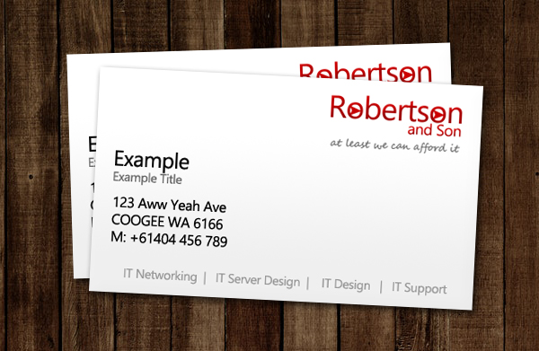 Robertson and Son, Business Cards
