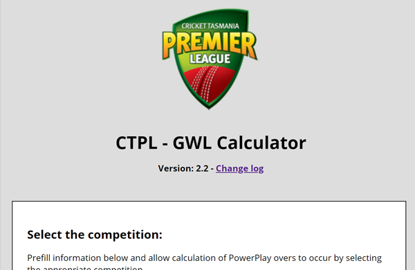 Ground Weather and Light Calculator, Cricket Tasmania