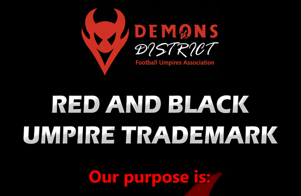 Demons District Football Umpires Association Poster