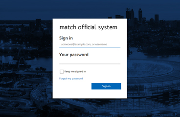 Match Official System